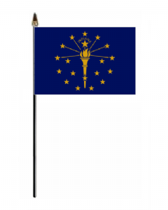 Indiana Hand Flag - Small.